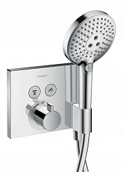 Термостат на 2 потребителя с держателем Hansgrohe ShowerSelect 15765000